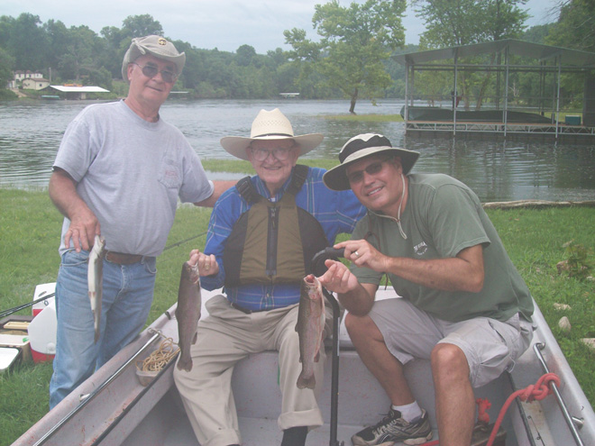 Full Day Trout Fishing Trips in and near White River Missouri