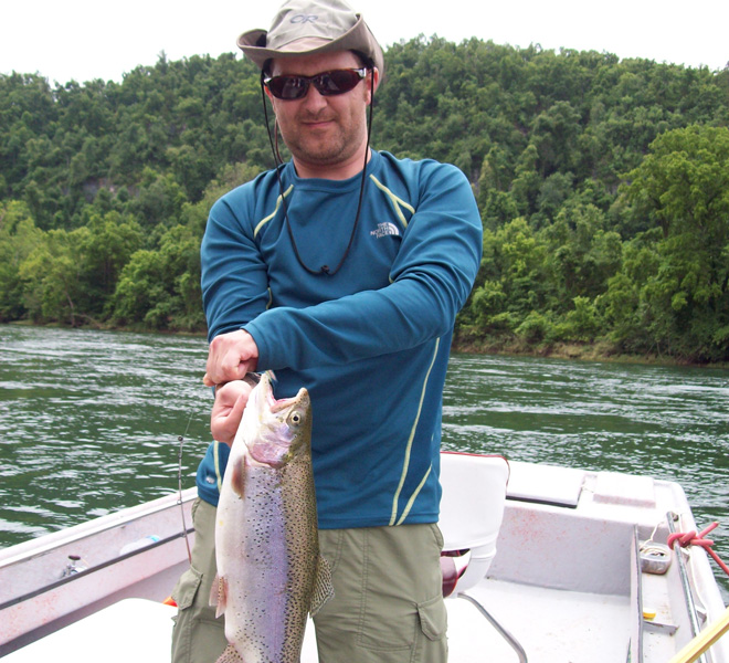 White Water Trout Fishing Guide in and near White River Arkansas